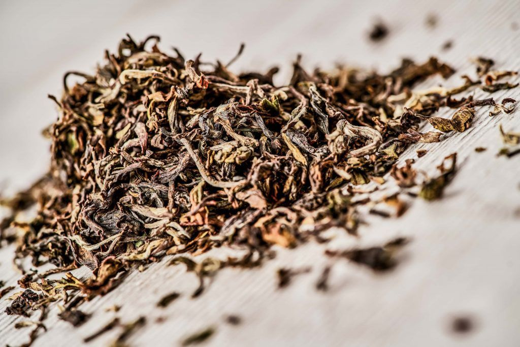 Black tea infusion. Butter tea punch ingredients