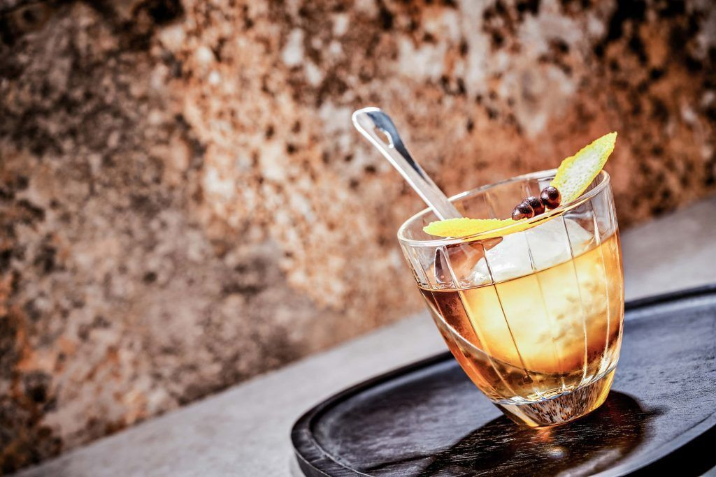Colonial old fashioned cocktail